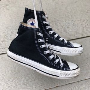 Converse Black High Top Lace Up Sneakers